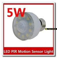 3W E27 54 LED Sensor Light Bulb PIR Motion Light Automatic Lamp Bulb Light 1pcs/lot #S002