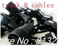 20123new arrival cables for TCS  cdp+PRO cables truck 8 cables include for Renault-12P Cable  and IVECO-30P Cable ,free shipping