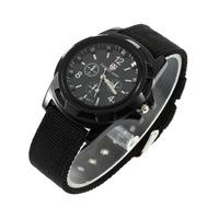 1pcs Luminous Quartz Wrist Watch  Unisex Analog Men  Canvas Belt Army military Sport Style Free Shipping