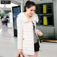 Plus size slim cotton-padded jacket winter medium-long 2013 wadded jacket outerwear female chromophous