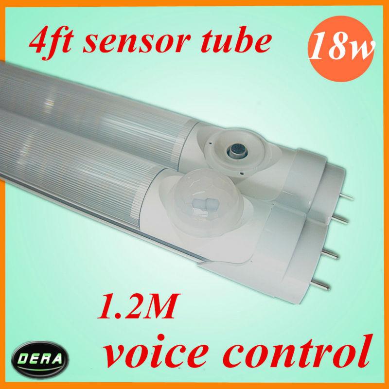 free shiping 25pcs 18 W T8 led sensor tube Human sensor voice control led tube1400-1600LM 85-265v 1200mm 4ft LED TUBE(China (Mainland))