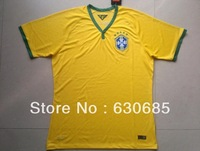 New arrival 13/14 version of the home fans in Brazil home yellow soccer jerseys Brazil 2014 World Cup national team jersey