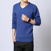 Male fashion personality sweater blue basic shirt sweater top autumn and winter thickening men's clothing
