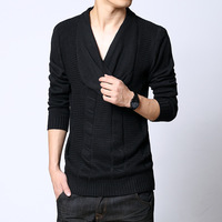 Fashion personality slim sweater male basic shirt fashion autumn and winter men's clothing clothes
