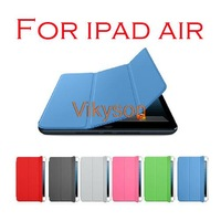 9.7 inch Smart Magnetic Leather Case Cover For New Apple iPad air with Sleep/Wake Function Wholesale 10pcs/lot Free Shipping