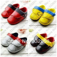 Classic designs (1 pair) PU fashion buckle velcro baby sneaker shoes 4 colors for 0-1 year