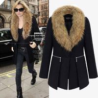 Plus size clothing plus size coat mm autumn and winter new arrival fashion medium-long sweatshirt Large woolen trench
