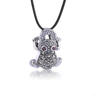 Fashion personalized jewelry wholesale 925 silver inlaid CZ diamond and crystal pendant silver chain delivery 45CM