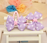 50pcs/lot, 6.5cm baby ribbon bows with clip, Baby Boutique hair bows ,Hairclips,Girls' hair accessories wholesales hairclips