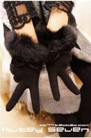 The new 2013 wool gloves bowknot finger gloves gloves rabbit mouth