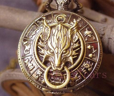 Achats d'objets spéciaux-artefacts - Page 2 Wolf-pattern-Harry-potter-golden-snitch-necklace-pocket-watch-free-shipping