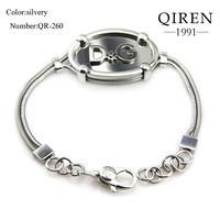 1 accept,2013 NEW arrival fashions snake chain bangle brand design silver women bangle  QR-260