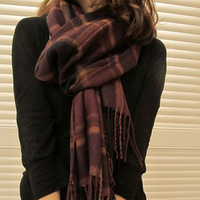 Scarf women's autumn and winter plaid cape male winter warm and muffler scarf