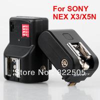2in1 Nex HotShoe hot sho Adapter flash trigger with PT-16 receiver for Sony Nex-F3 NexF3 F3 Nex3 NEX5 NEX5N NEXC3 C3 NEX5R PF060