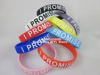 1pc I Promise Wristband, Printed bracelet, 9colours, free shipping