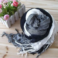 Free shipping new winter three faces three colors cotton crushed unisex scarves
