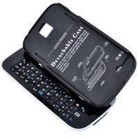 New Wireless Sliding Bluetooth 3.0 Backlight Keyboard Stand case for Samsung Galaxy S4 i9500 White and Black, Free Shipping