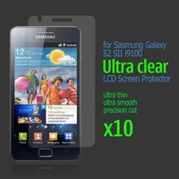 New 10pcs Ultra Thin Anti-Glare Clear LCD Screen Protector for Samsung Galaxy S2 SII i9100 Screen Protector free shipping