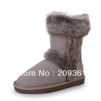 Brand New Fahion Winter Women Snow Boots Lady Mid-calf Winter Warm Snow Boots Flat Shoes 6 sizes 6 colors