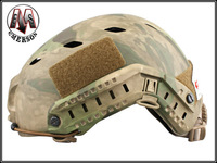 Military Tactical Gear ABS Camo CQB Shooting Paintball Base Jump Fast Helmet free shipping