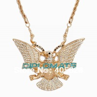 "Hip Hop fashion chain crystal ""Diplomats"" pendant necklace"