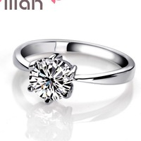 925 silver ring crystal wedding rings for women