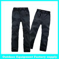 Dropshippign fashion mens casual pants new design outdoor windproof waterproof fleece cotton pants winter Soft shell trouser
