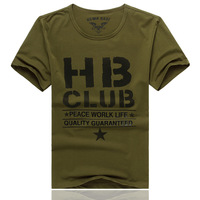 Summer easy care fashion elastic t-shirt men's Army Green t-shirt o-neck short-sleeve