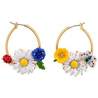 Les N****des flower earrings,three flowers with different color,free shipping,wholesale