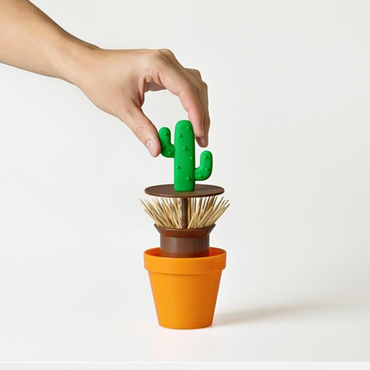 Novelty potted cactus toothpick box novelty toothpick holder in toothpick holders from home - Novelty toothpicks ...