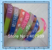 Free ship Promotional toys glow 1.2cm jewelry silicone bracelet for kids  silicone wrist bands  Silicone Bracelets Waistband