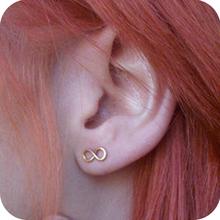 New fashion digital 8 infinite infinity studs earring,Fashion Jewelry for women gift(China (Mainland))