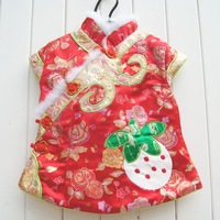 2013 winter strawberry peones cheongsam dress female child cheongsam