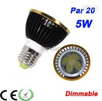 20PCS Free shipping Led bulb Par20 5W Dimmable 5 CREE LEDS par 20 led lamp Spotlight 110-240V Led light donwli