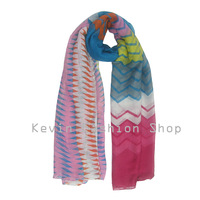 Ladies Classics Style Prety Scarves  Fashion Geometry Printed Raised Grain Scarf Beautiful Female Accessories