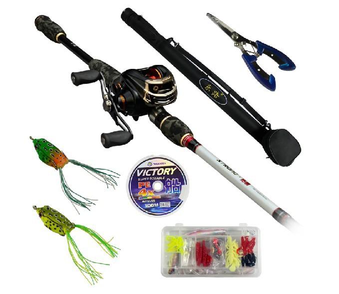 Ems free 2 1m baitcasting fishing rod set llbc702 m ml mh for Fishing rod set