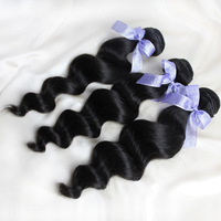 Hair Weft Malaysian Loose Wave Virgin Hair 3pcs100% Human Hair 8 inch to 28 inch Quality Good DHL UPS Fedex Free Cheap Price