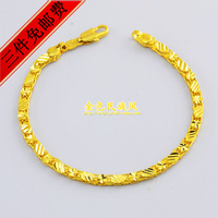 Fashion gold pure necklace male Women 18k gold accessories birthday gift alluvial gold jewelry