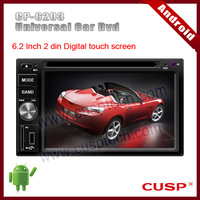 Android CP-6203 car gps navigation with dvd,radio,audio,bluetooth,TV,RDS,SD,3G,USB,wifi,Ipod MAP(option)  for Universal Car