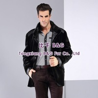 BG29211    Genuine Luxurious   Sheared Mink Fur Male Clothing  with snake leather trimming 2013 Fashion  Mink fur male clothing