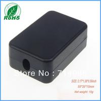 (50 pcs) small enclosure box 55*35*15 mm 2.13*1.34*0.55 inch black electronics project box for pbc