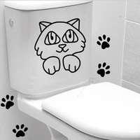 Wholesale-New Dog removable wall decor Toilet Bedroom Living Room 3D wall stickers vinyl stickers 30*50 Free shipping