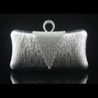 Free shipping big u shaping diamond evening bag evening dress bag