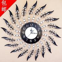 Large wrought iron wall clock diamond clock fashion pocket watch fashion personality silent