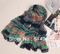 New Fashion Women Scarves Muslim Hijab monroe Long Voile Tribal Aztec Scarf Swap Shawl 180*92 cm  8 colors