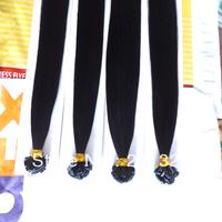 "Wholesale - 24"" Pre Keratin Flat-Tip Human Hair Extension #1 Jet Black,1g s 100g set"