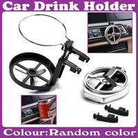 2 pcs/Lot_Car outlet Drink Holder Collapse water cup holder fan Drink Holder color random