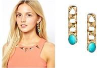 ZH0752 NEW Arrive women chain earring  Punk chunky Chain Earrings