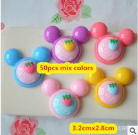 (can pick color)100pcs 32mm flatback resin mickey mouse kawaii cute cabochon cartoon critmas,diy haribows decoration