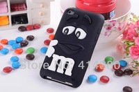 10pcs/lot MM Milk Rainbow Cartoon Silicone Back Cover Skin Case for iPod Touch 4 4G 4th  free shipping